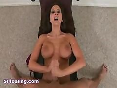 Busty Porn Star Austin Kincaid Giving One Hell Of A Good Handjob