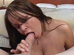 Brandy Talore huge tits titjob and blowjob