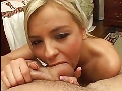 Babyfaced Bree Olson gets a creamy dessert after a main cour...