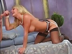 Blonde babe Bree Olson has her twat thumped with cock before...