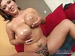 Nasty Claire Dames Gets Her Throat And Pussy Fucked On The Couch