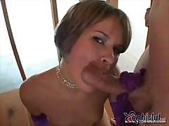 Claire Robbins Loves Anal Beads And Sucking On A Hard Cock