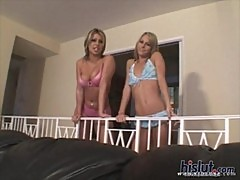 Courtney Simpson and Solana fuck a lucky ...
