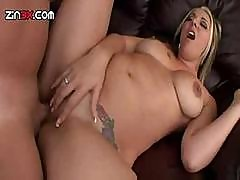 Delilah Strong Fucks And Sucks A Hard Cock All Over The Couch