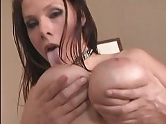 Titty racked Gianna Michaels takes a fat black cock up to th...