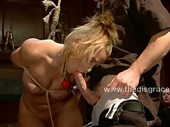 Harmony Rose the street whore in bondage