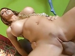 See creamy fuck fluid ooze its way out of Jenna Presleys ove...
