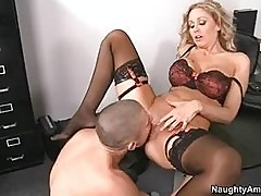 Whore Julia Ann works on her irresistible boss manhood like ...