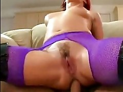 Cock whore Katja Kassin works thick cock up juicy ass fuckin...
