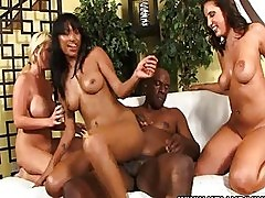 Interracial Foursome and Group Sex Fun with Kelly Divine