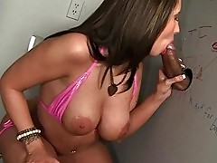 Kelly Divine Sucks Big Cock At Gloryhole