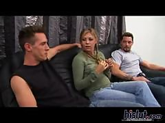 Leah pleasures big dicks