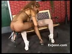 A Is For Anal Liliane Tiger hot fishnet..