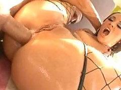 Lisa Ann Kristina Rose Plus 1 more oil soaked babe