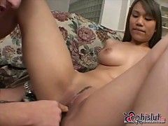 Asian Lucy Thais ass banged hard