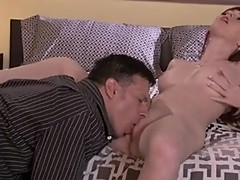 Red haired slut Marie McCray deliciously Munching her lover's rock hard cock