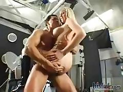 Blonde Michelle B. Sucks And Fucks This Stud's Large Cock