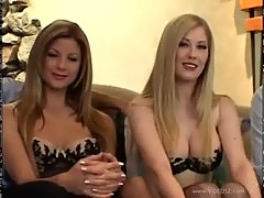 Euro hot blondes Michelle B. and Monica Sweetheart