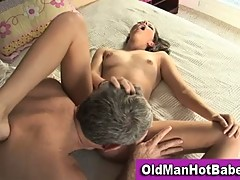 Missy Stone licked by dirty old man