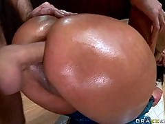 Big Assed Anal Slut Nikita Denise Gets Covered In Oil and Then Fucked