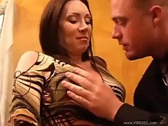 Hot brunette milf rayveness with an incredible body fucked!