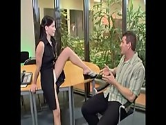 Horny receptionist Rebecca Linares gets analized (2)