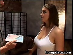 Busty Sara Stone gets her tight snatch po ...