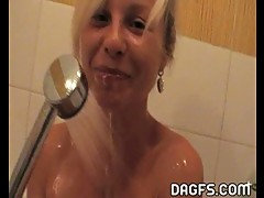 Naughty Sharka Blue in the shower