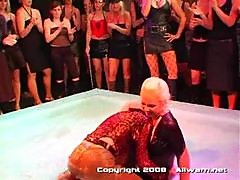 Sharka mud wrestling competition