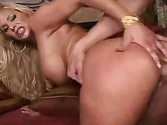 Busty blonde Shyla Stylez gets a hard doggystyle banging
