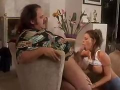 Tabitha Stevens Gives Blowjob To A Fat Guy