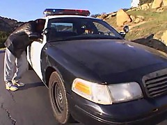 Officer Trina Michaels picks up a hitchhiker