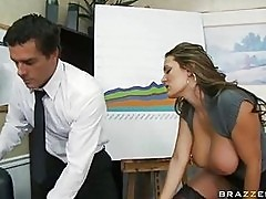 Trina Michaels opens her throat and accommodates a huge nob ...