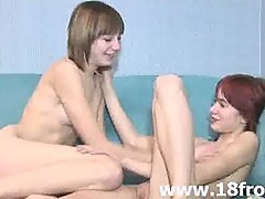 European 18yo lezzies making love