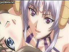 Anime Babe Riding A Shemale Cock