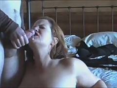 Plump wife saddled horny husband!