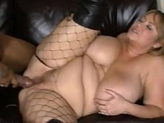 Samantha 38G takes a Black Cock