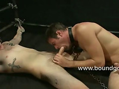 Josh fucks slave Leo with his huge cock