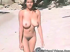 Big Titted Babe At The Beach