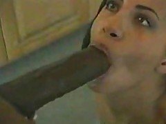 Huge cock drills hot ebony ass