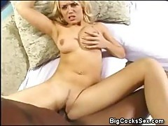 Nasty Blonde Babe Holly Gets The Big Bad Cock All The Way In