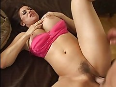 Superb busty brunette wife getting her pussy fucked hard