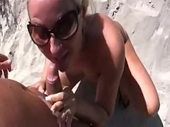 Girl comes to him for sex at the beach