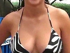 Public titty flashing