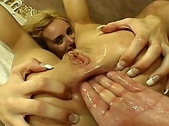 Wet and wild blonde up for arse pumping sexcapade