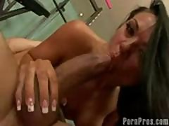 Brunette Cherokee Loves Exercise And A Big Cock To Suck And Fuck
