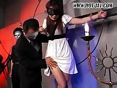 Japanese Girl Gets Tied Up And Abused As She Gets Fucked Hard