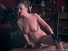 MistressT teasing fuck her sex slave and don't let him to cum
