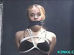 Pretty chick severely punished
