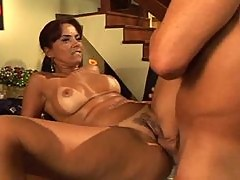 Latina with tempting curves boned in the vagina